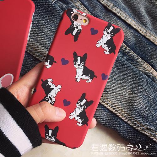 Cubierta encantadora de la caja del perro del dogo francés de la moda de YunRT para el iPhone 6 / 6S 4.7
