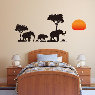Bulk Lots Elephant Shadow Wall Sticker Wallpaper Wall Picture Art Vintage Room Home Decor Kitchen Accessories Household Craft Suppllies