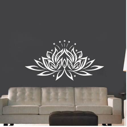 Großhandel Große Größe Lotus Blume Vinyl Wandaufkleber Kreative Design  Wandtattoos Für Wohnzimmer / Schlafzimmer Dekor Von Hoob, $18.2 Auf ...