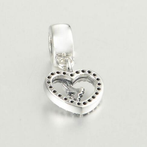 For Europe Pandora Bracelets & Pendants New S925 Sterling Silver Charms & Clear CZ Pendant Charm Bead LW530