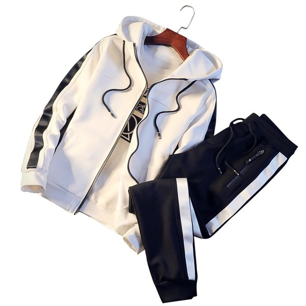 Men's Sets Fashion Sportswear Tracksuits Sets Men's Cardigan Hoodies+Pants Casual Outwear Suits Chandal Hombre Completo