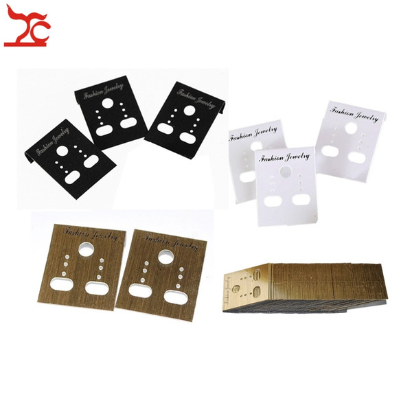 best selling Wholesale 100Pcs Fashion Jewelry Earring Cards Plastic Earring Stud Organizer Holder Hanging Display Card Studs Holder 30*40MM