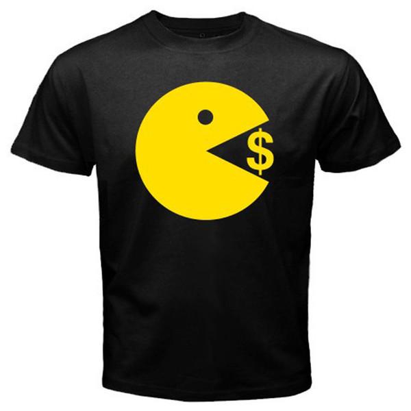 Новый Мэнни Пакьяо Пак человек ест деньги мужская черная футболка размер S до 3xl футболка О-образным вырезом лето личность мода мужчины футболки