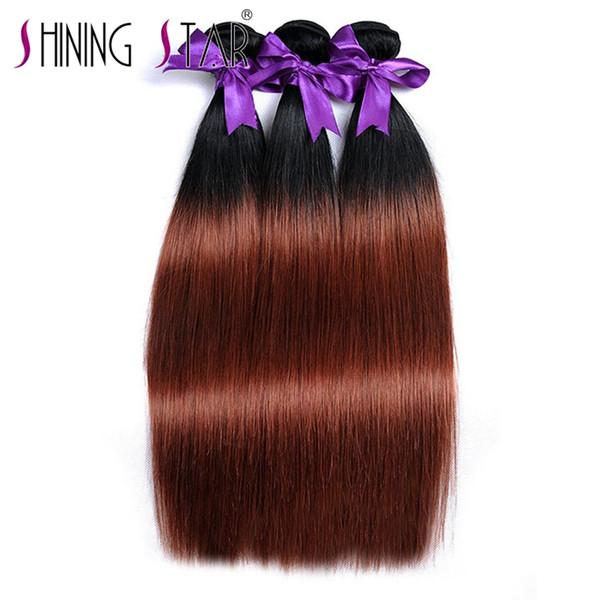 brasilianische remy reine haarwebart glänzender stern hohe qualität und mode frei dhl 10-30 zoll bündel