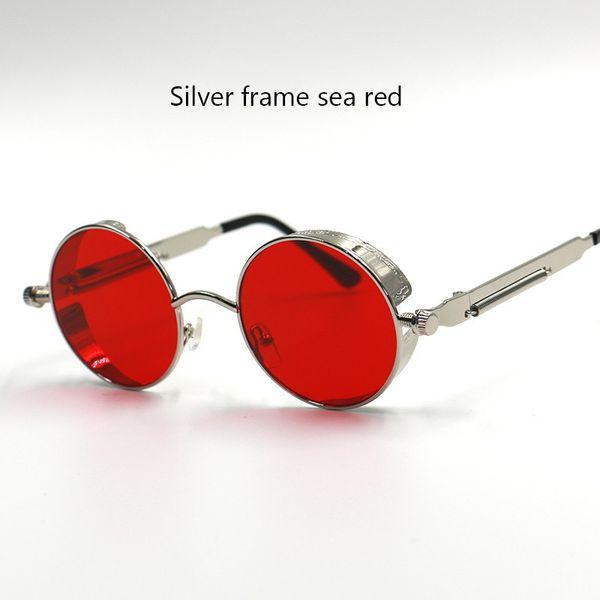 113b5decff HOTTEST UV400 Gothic Steampunk Mens Sunglasses Coating Mirrored Sunglasses  Round Circle Sun glasses Retro Vintage Gafas