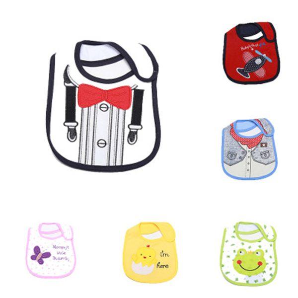 1pcs New 100%Cotton Baby Bib Infant Saliva Towels Baby Waterproof Bibs Newborn Wear Cartoon Accessories Animal Shape