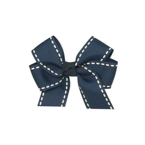 6 Pcs/lot 3'' Hair Bows Kids Child Handmade Grosgrain Ribbon Bows Hair clip With Striped For Girls Hair Accessories