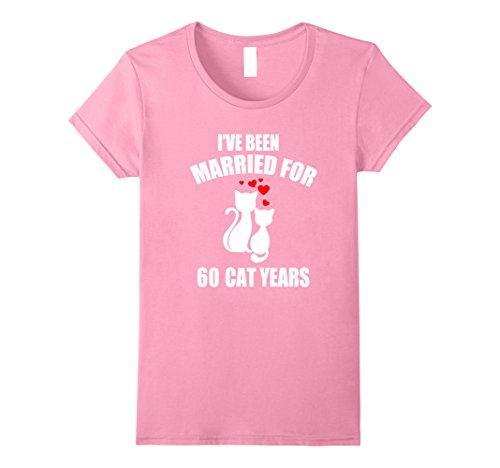 Frauen Tee 11. Hochzeitstag T-shirt 60 Kätzchen Jahre Geschenk Harajuku Hemd Kurzarm 2017 Kawaii Baumwolle T-shirt Frauen