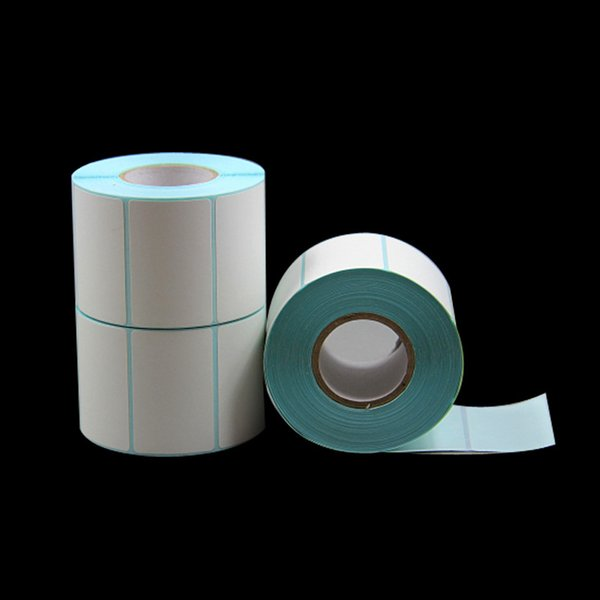 700pcs/roll Direct print thermal paper label packing seal label sticker mall price blank cheap price sticker paper in roll