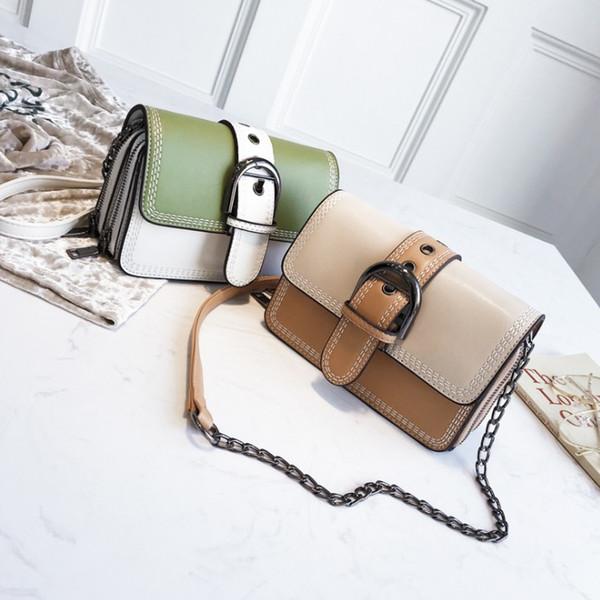 Mode casual sac Femme Sacs Girl Small Nouveau modèle Handbag Lock attraper PU Soft Cross Body Sacs à bandoulière Totes Mini Pure couleur A2345