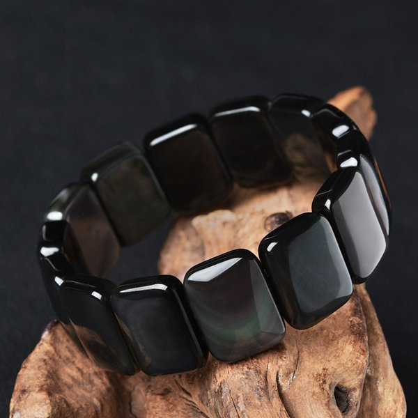 Korean Version of The Retro Simple Obsidian Hand Row Female Male Bracelet Crystal Fashion Jewelry Lovers Gift