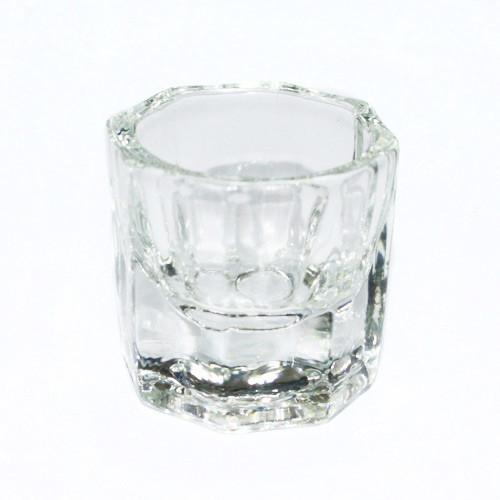 Wholesale 25pcs/lot Octagonal Shape Glass Cup Dappen Dish Container for Arcylic Nail Art Liquid Powder