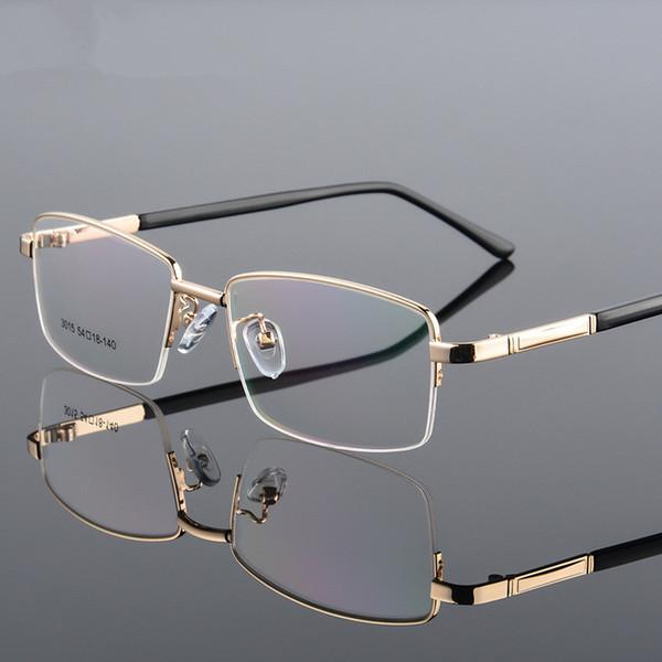 Lunettes de vue en alliage de titane ultra-légères en métal avec monture de branches flexibles Monture de lunettes complète avec 4 couleurs