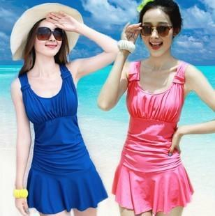 75d3ca03b3f 2019 Skirts Womens One Piece Swimsuits With Skirts Cheap Cute ...