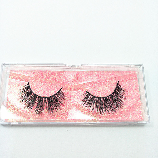 2018 Seashine Wholesale 10 Pairs Women Makeup 100% Real Mink Thick 3D False Eyelashes Popular Messy Nature Eye Lashes Black Handmade Lashes