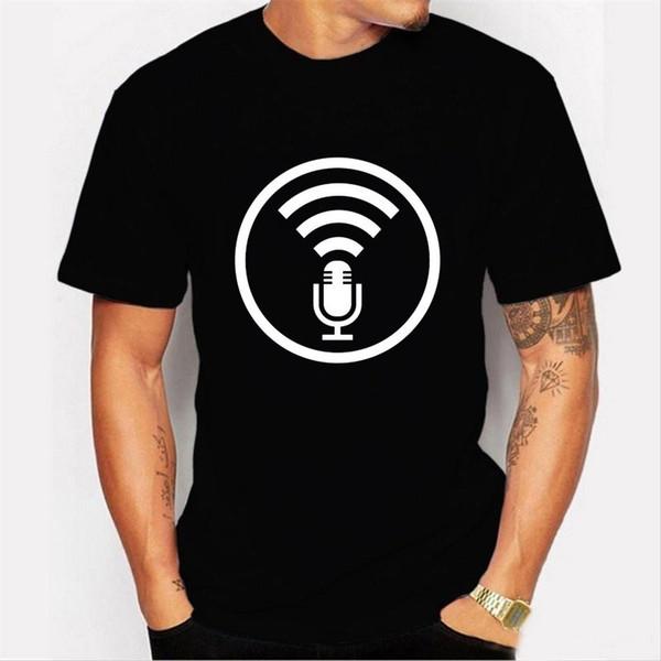Cosas que deberías saber Camiseta con micrófono Camiseta para hombre Personalidad de moda Algodón suelto Hip Hop Camiseta barata