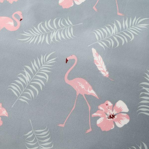 Flamingo Bedding Grey Duvet Cover Set Pink Flamingo and Palm Tree Bedding Set