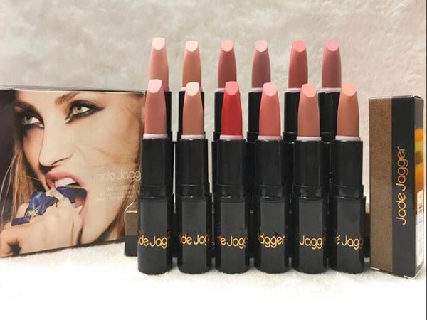 2018 HOT good quality Lowest Best-Selling JADE JAGGER 12 color lipstick NEW Brand Makeup MATTE LIPSTICK DHL shipping