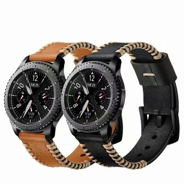 Genuine leather strap for Samsung Gear S3 bands fashion bracelet leather band Simple Gear S3 watch Cowhide 22mm Samsung watch