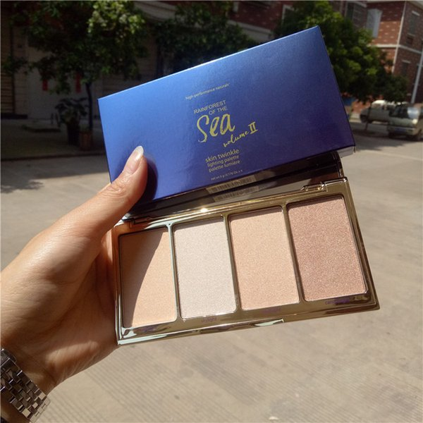 New Makeup Rainforest Of The Sea Skin Twinkle Lighting Palette Highlighter Contour Palette Dhl Face Contouring Makeup Highlight Makeup From