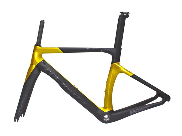 2019 PHESANTS MARS Black Gold T800 Carbon Road Bike Frame Racing Bicycle Carbon Size XXS/XS/S/M/L BSA/BB30 For Choice