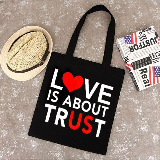 2018 Spring and Summer new canvas bag cute cartoon pattern fashion shopping environmental bags large inventory