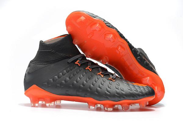 cf3903dd4 2018 Best Quality Football Boots Black Orange Soccer Cleats 100% Original Hypervenom  Phantom III DF FG Neymar Mens Soccer Shoes