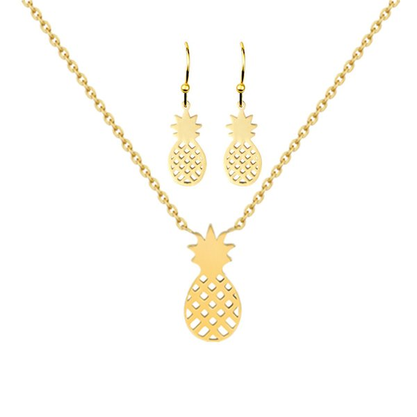 2018 New Fashion Choker Necklace Jewelry Link Chain Pineapple Necklace Fruit Pineapple Pendant Necklaces for Women Party Gift