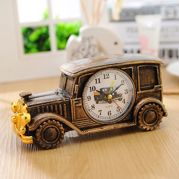 6 Farben Cube Clock Auto Form Kinder Spielzeug Batterie Wecker Home Tisch Tischuhren Stumm Nadel Timer Despertador
