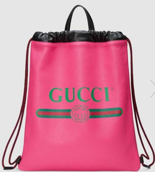 Print leather drawstring backpack 494053 Men SHOULDER BAGS TOTES HANDBAGS HANDLES CROSS BODY MESSENGER BAGS