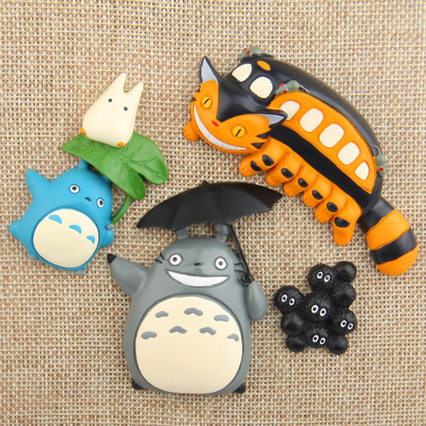 4Pcs/lot Cartoon Cute My Neighbor Totoro Magnet Kid Early Education Magnetic Stickers For Fridge Resin Figure Sticker Suppliers