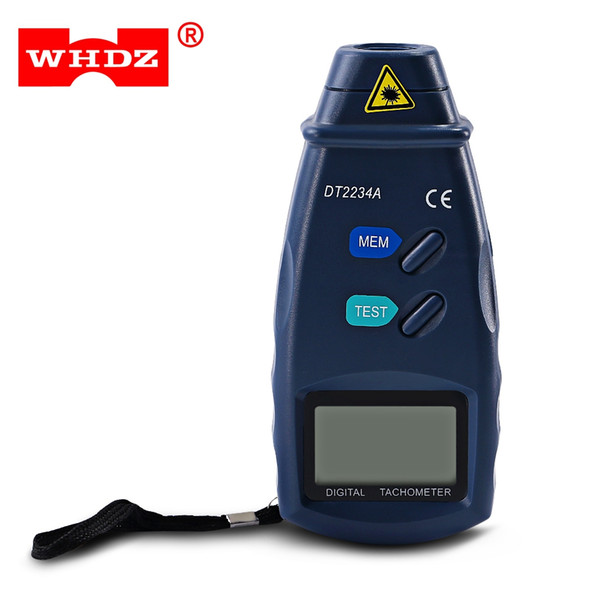 WHDZ Non-contact Laser Digital Tachometer Lightweight Highly Accurate Measurement without Touching 5 LCD Display Screen Gauge Revolution