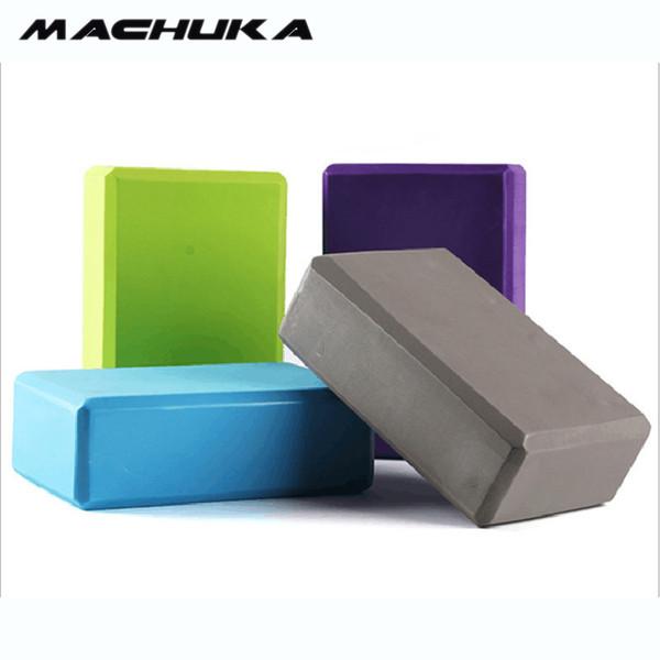 MACHUKA 1PC EVA Yoga Block Foam Block Brick Exercises Roller Fitness Tool Workout Stretching Aid Body Shaping Health Training