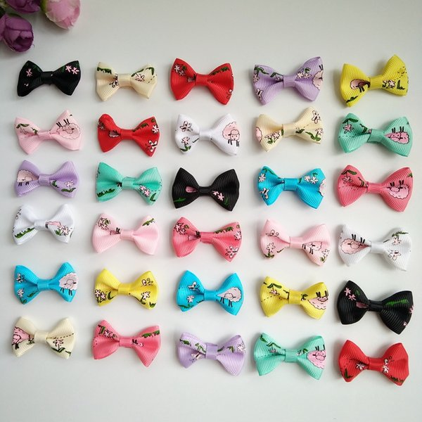 100PCS Handmade Pet Puppy dog cat Hairpin hair bows dog Hair Clips Pet Dog Grooming Accessories Decorative Pet hair accessories