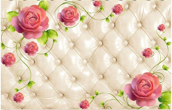 Custom Photo Murals 3d Soft Package Flower Tv Background Hd Wallpapers With High Resolution Hd Wallpapersxxx From Yiwuwallpaper1688 3217