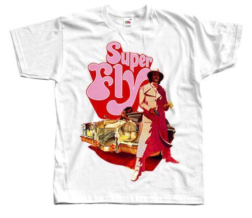 SÜPER FLY Film afişi, tüm boyutları S 5XL Serin T-Shirt Tasarımları En Çok Satan Erkekler Kollu T gömlek Homme