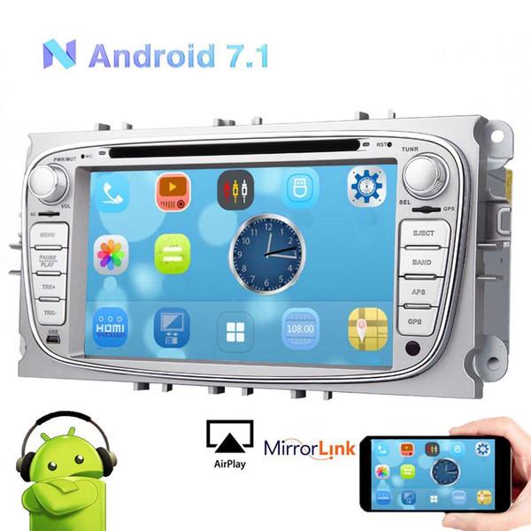 EinCar Android 7.1 2GB RAM Car Stereo CAR DVD GPS Navigationfor Ford Mondeo Focus S-max Car CD Video Player Silver Autoradio HeadUnit
