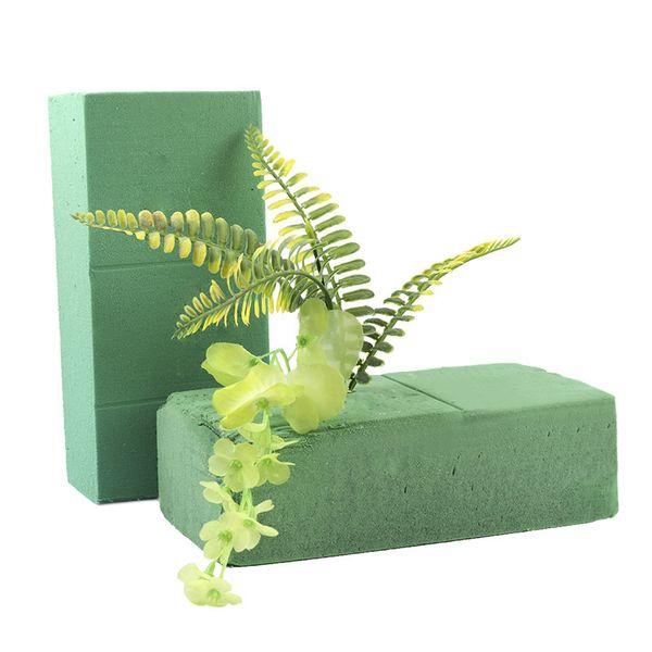Blocchi di schiuma floreale, portafiori in mattoni Fiore di styrofoam fiorista Verde I mattoni vengono applicati secchi o bagnati per fiori vivi o fiori artificiali
