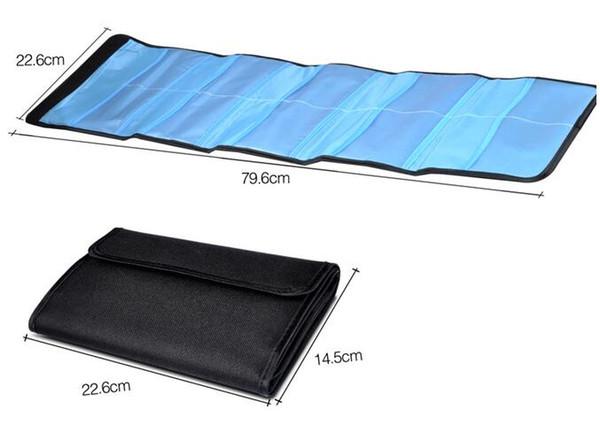 6 Pockets Camera Lens Filter Bag Case Pouch Purse Holder for 25mm-82mm UV CPL ND