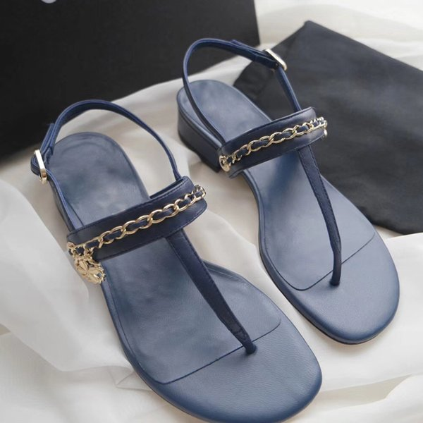c1dab8c8f76 Luxury brand designer women s Walking show sandals summer new Chain super  star Fashion flat Slippers Beach Sandals women dress Biggest shoe