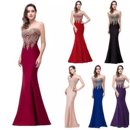 2018 vestidos de noche baratos joya mangas piso longitud lavanda rosa negro Borgoña vestidos de baile largos vestidos de fiesta vestidos formales del partido CPS262