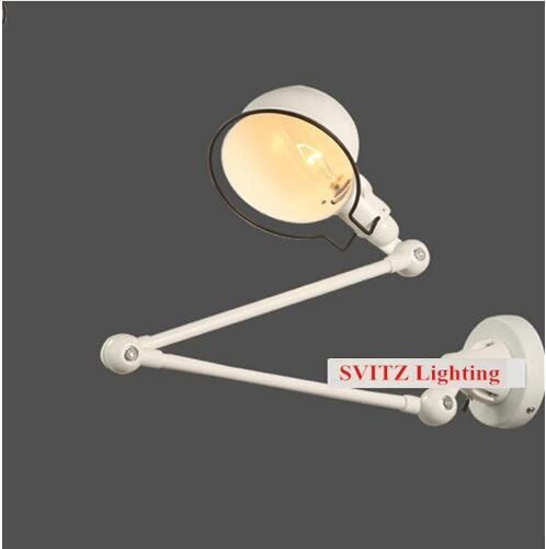 Foldable retro metal shade wall lamp sconce mirror White or black cover Led indoor wall light Robot vintage study reading light