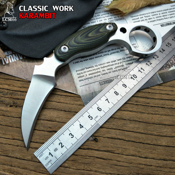 LCM66 D2 steel karambit scorpion claw knife outdoor camping jungle survival battle Fixed blade hunting knives self defense tool