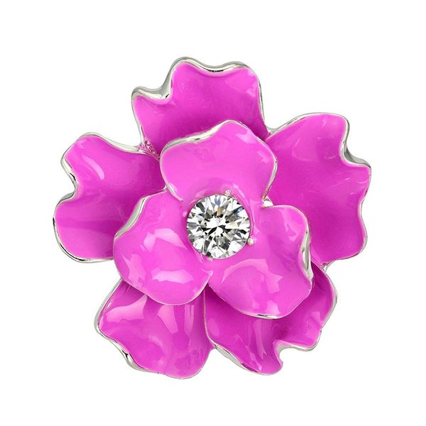 DreamBell Refined New Poppy Brooches Multicolor Pins Brooches Crystal Rhinestone Spirea Flowers Drip Brooch For Women
