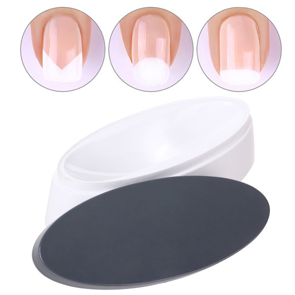 1 Set French Dip Nail Container Powder Smile Line Maker Sculpture Tips Dipping Molding Guides Plastic Manicure Access Tool JI163