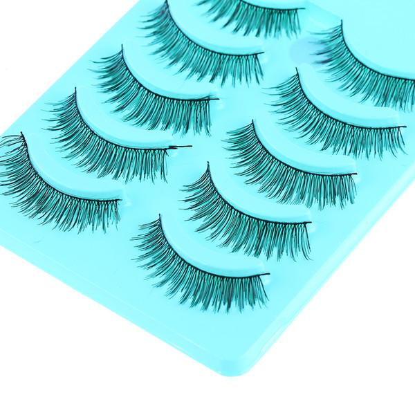 Handmade Fake Eyelashes Natural Fashion New Long Thick Cross 5 Pairs Makeup Beauty False Eyelashes Eye Lashes Extension