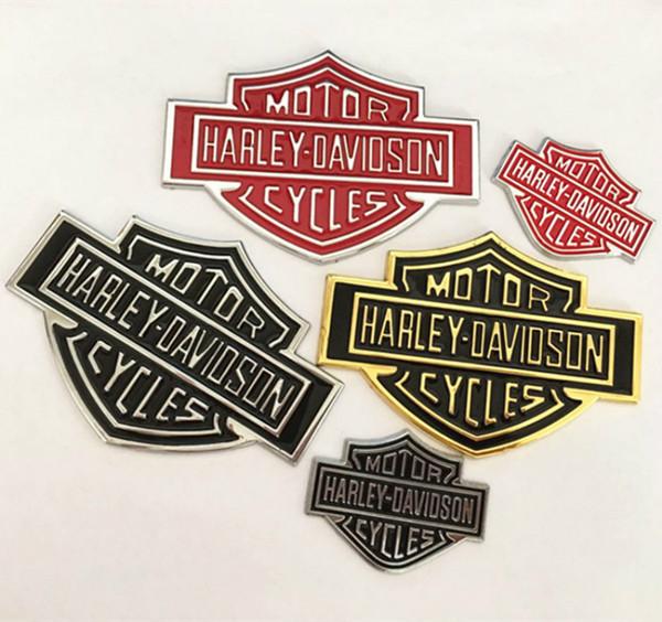 Personnalité cool 3D en métal autocollants de voiture moto voiture badge autocollant en alliage de zinc placage autocollant de voiture autocollant badge pour Harley Yamaha