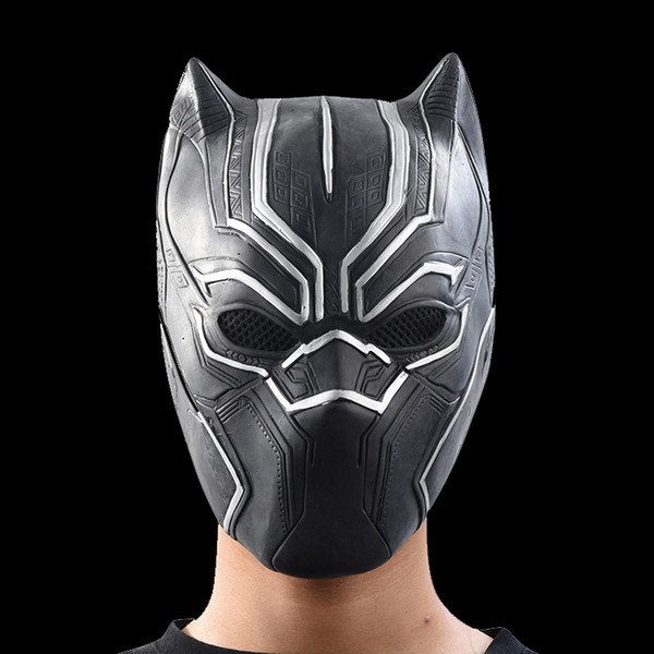 Black Panther Masks Movie Roles Cosplay Costume Adults Halloween Mask Realistic Men's Latex Festive & Party Supplies