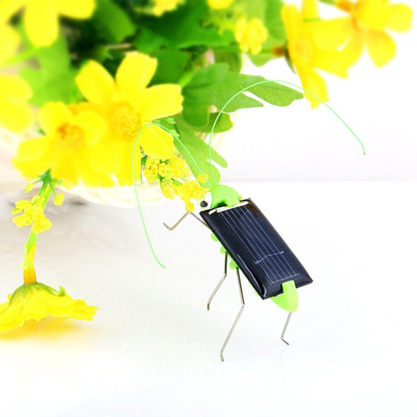 New Funny Solar Insect Solar Grasshopper Solar Cricket Educational Toy birthday gift fast shipping