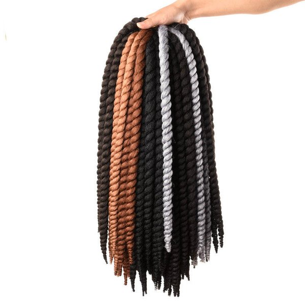 12 Roots Havana Twist Crochet Braids 14 18 22 inch Synthetic Crochet Hair Extensions 8 Pure Colors For Black Women